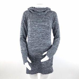 Athleta Blissful Hoodie Dress Heather Gray Small